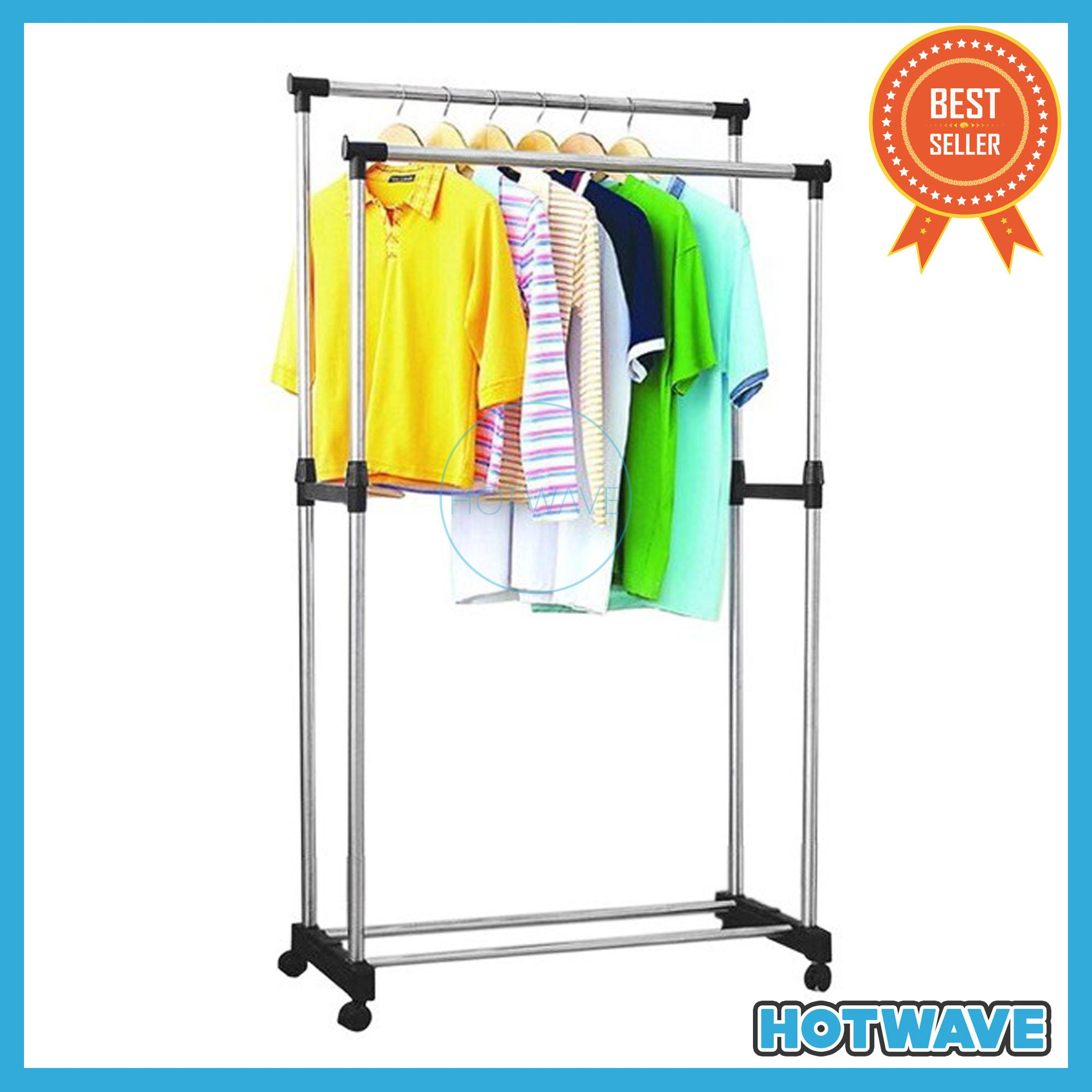 Double Pole Telescopic Stainless Steel Clothes Rack High Quality