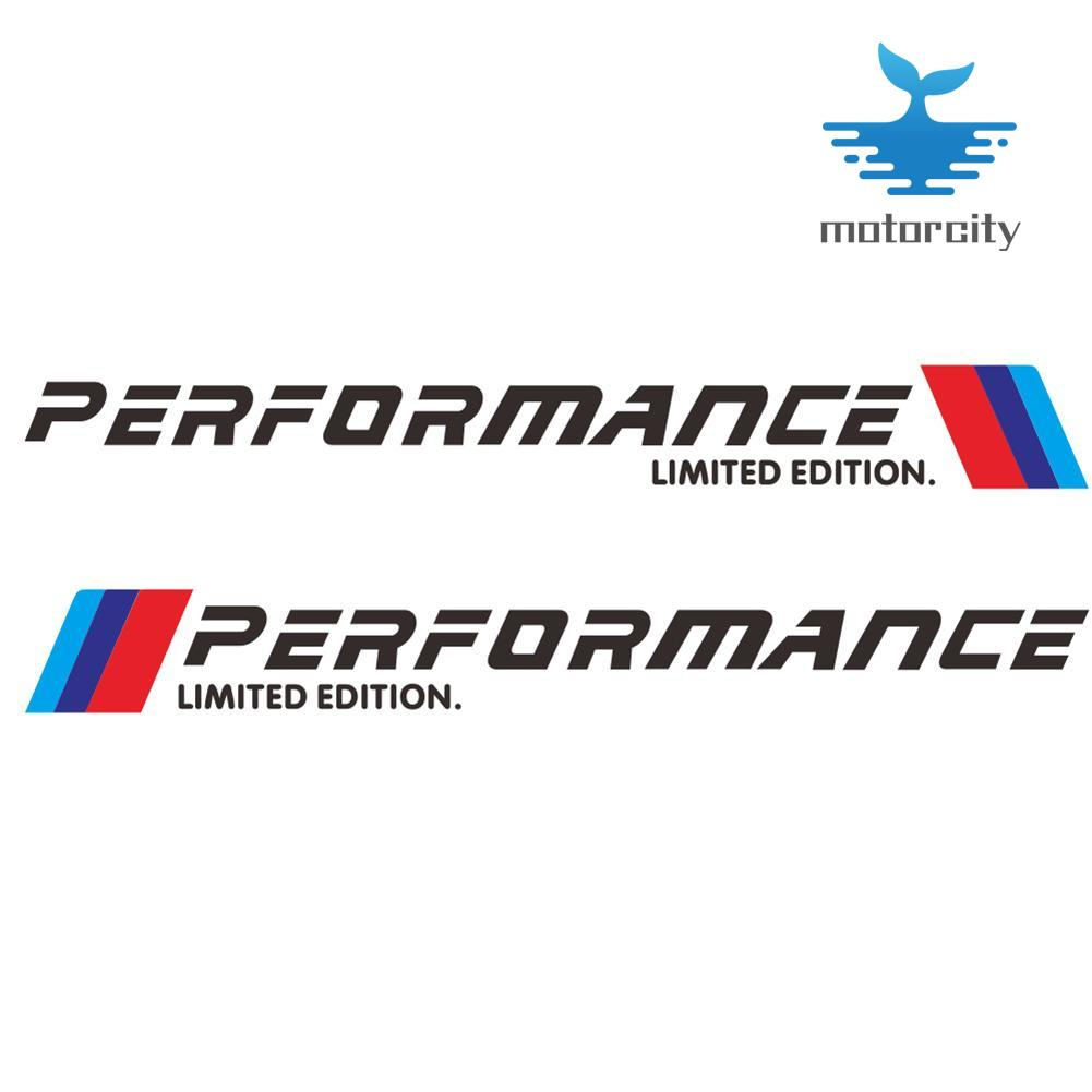 M-Colored M Performance Limited Edition Auto Body Stickers  for BMW 2pcs//Set
