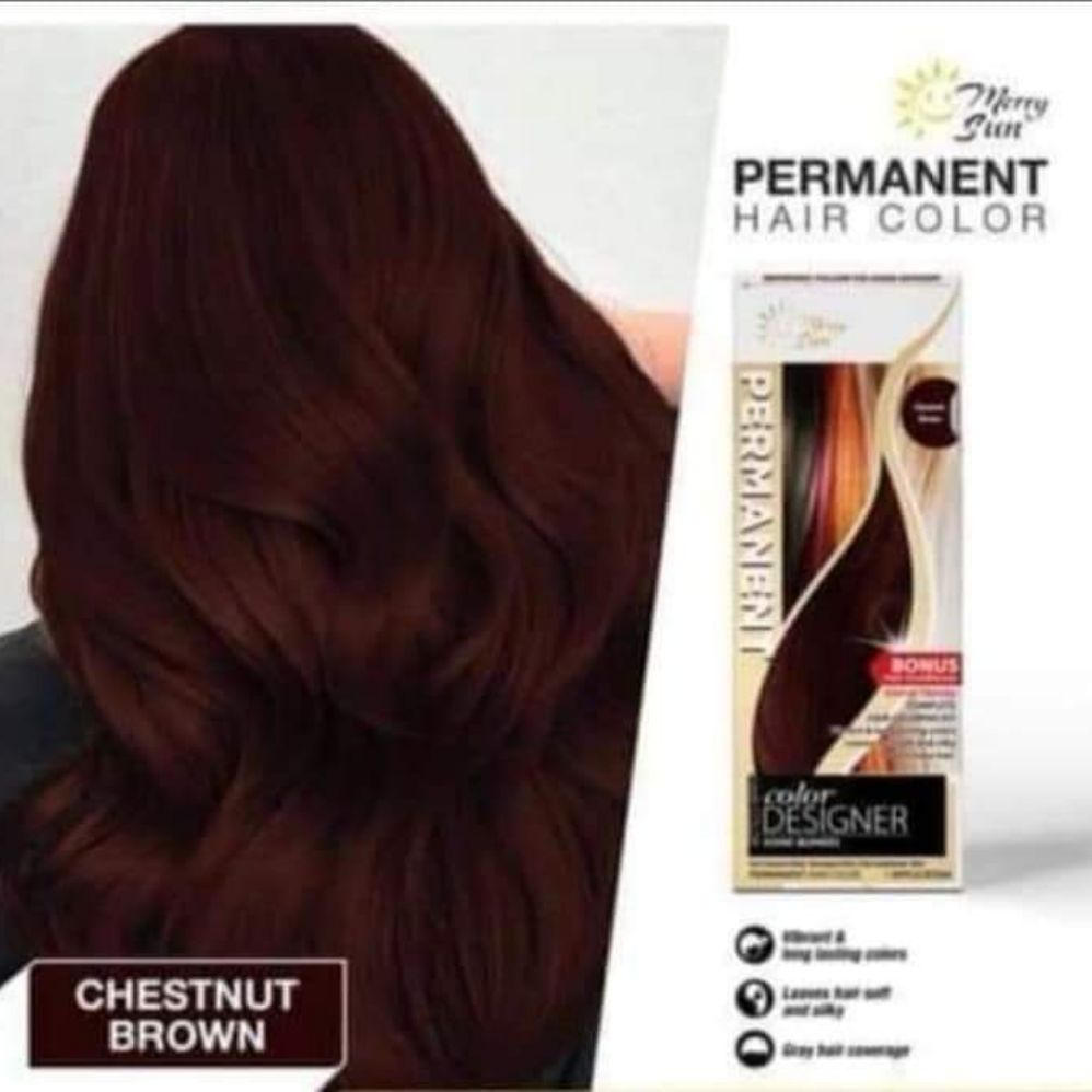 Merry Sun Permanent Hair Color Chestnut Brown Lazada Ph