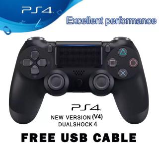 [Miếng Đệm Tích Hợp Cảm Ứng] Bộ Điều Khiển DualShock PS4 Chất Lượng Cao Bộ Điều Khiển Không Dây PS 4, Cho PS4,Steam, PC Windows 7 , 8 , 10 (Có Cáp USB) thumbnail