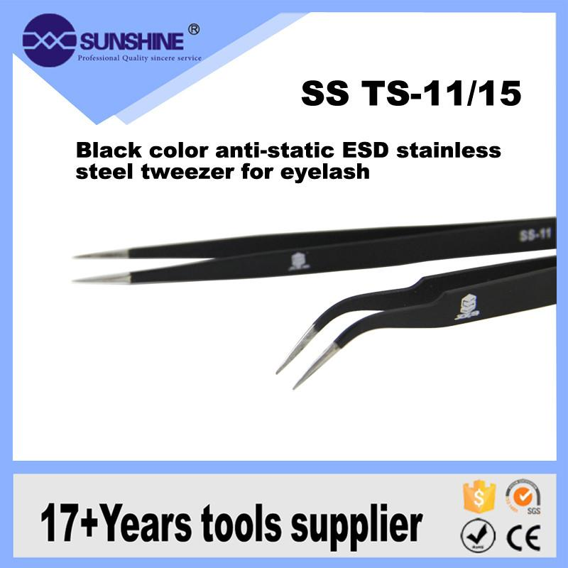 SUNSHINE Eyelash Extension Tweezers, ESD anti-static stainless steel tweezer for computer repair tools Philippines