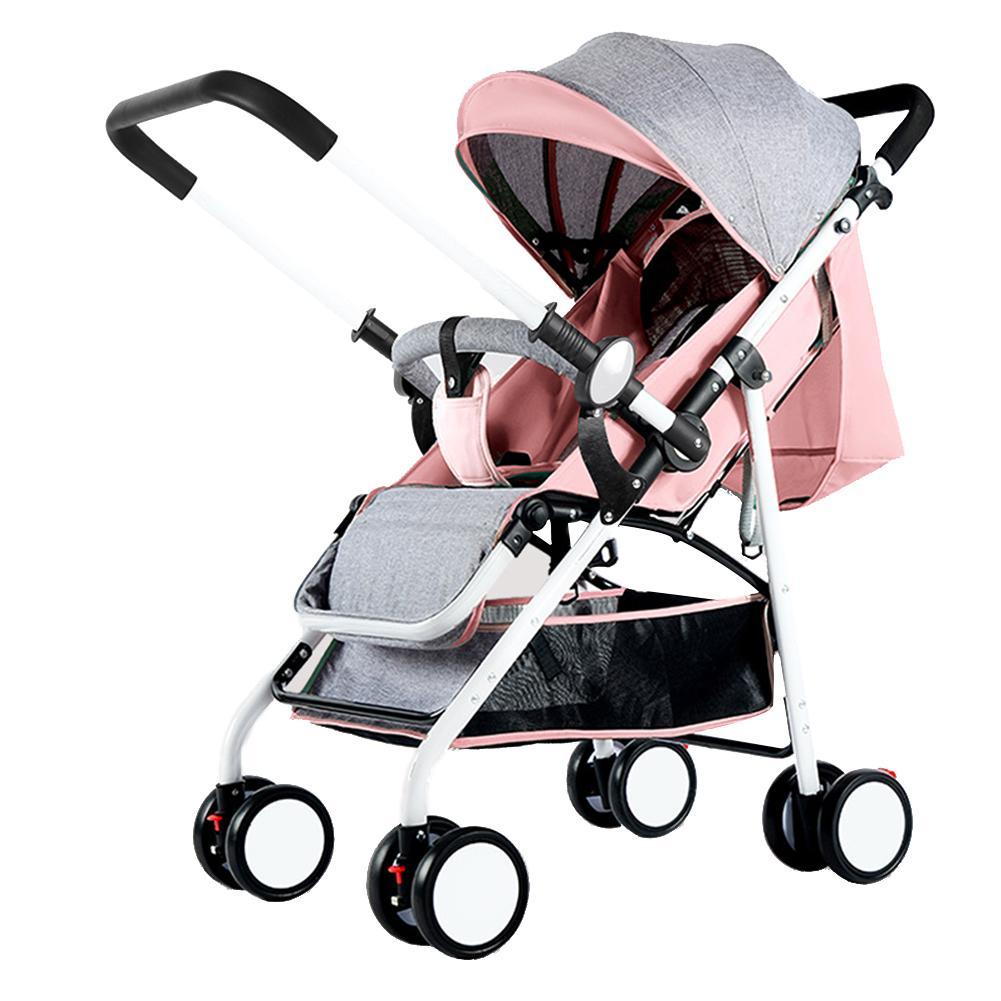 MG【Big Discount】ทารก Shock-proof พับรถเข็นเด็กมีร่มสำหรับโกหกนั่ง