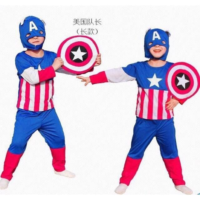 9b7306631 Kids America Captain Costume Boys Superhero Avengers Cosplay Party Birthday  Gift Outfit Brand New