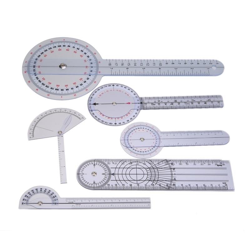 Mua 6Pcs Medical Spinal Ruler Spinal Finger Goniometer Protractors Multi-Ruler Angle 180/360 Degree Measuring Tool