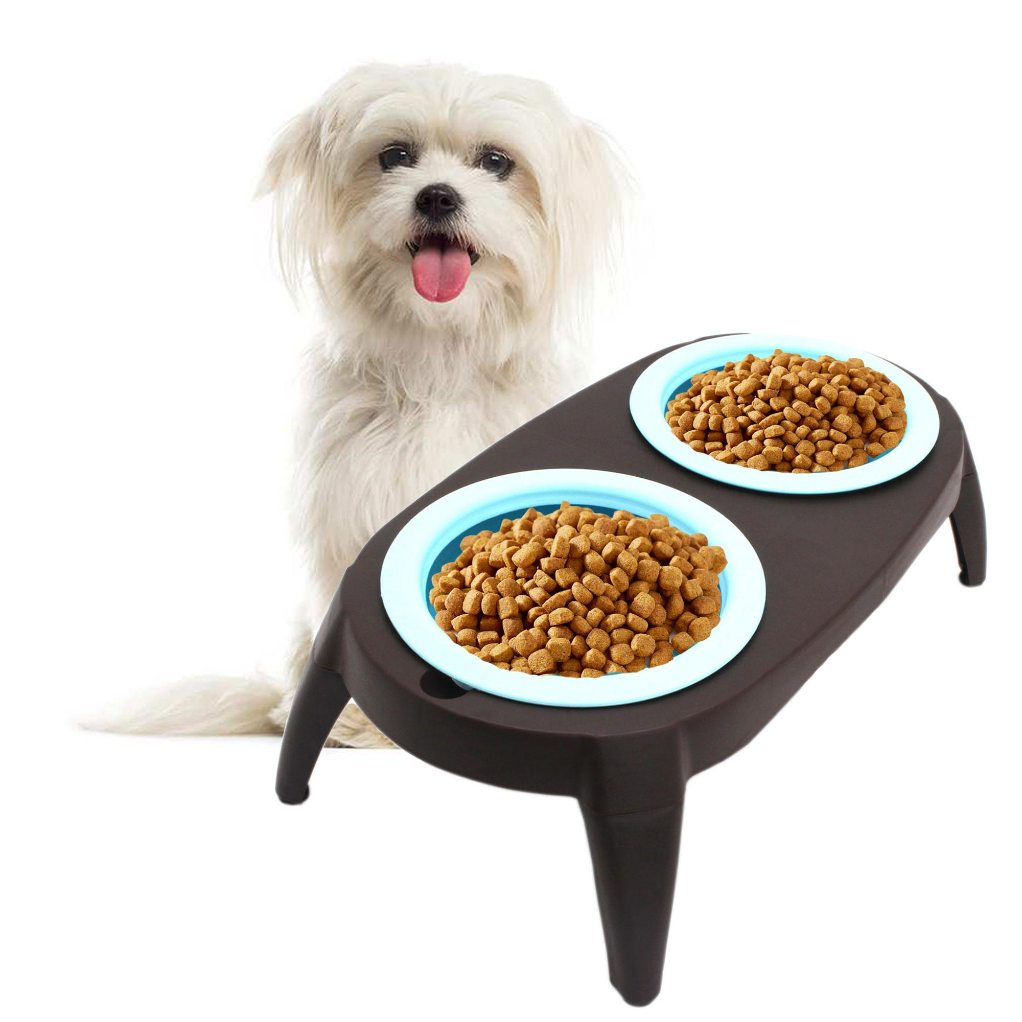 Collapsible Silicon Pet Feeder Bowl With Stand (blue) By Gonzalez General Merchandise.