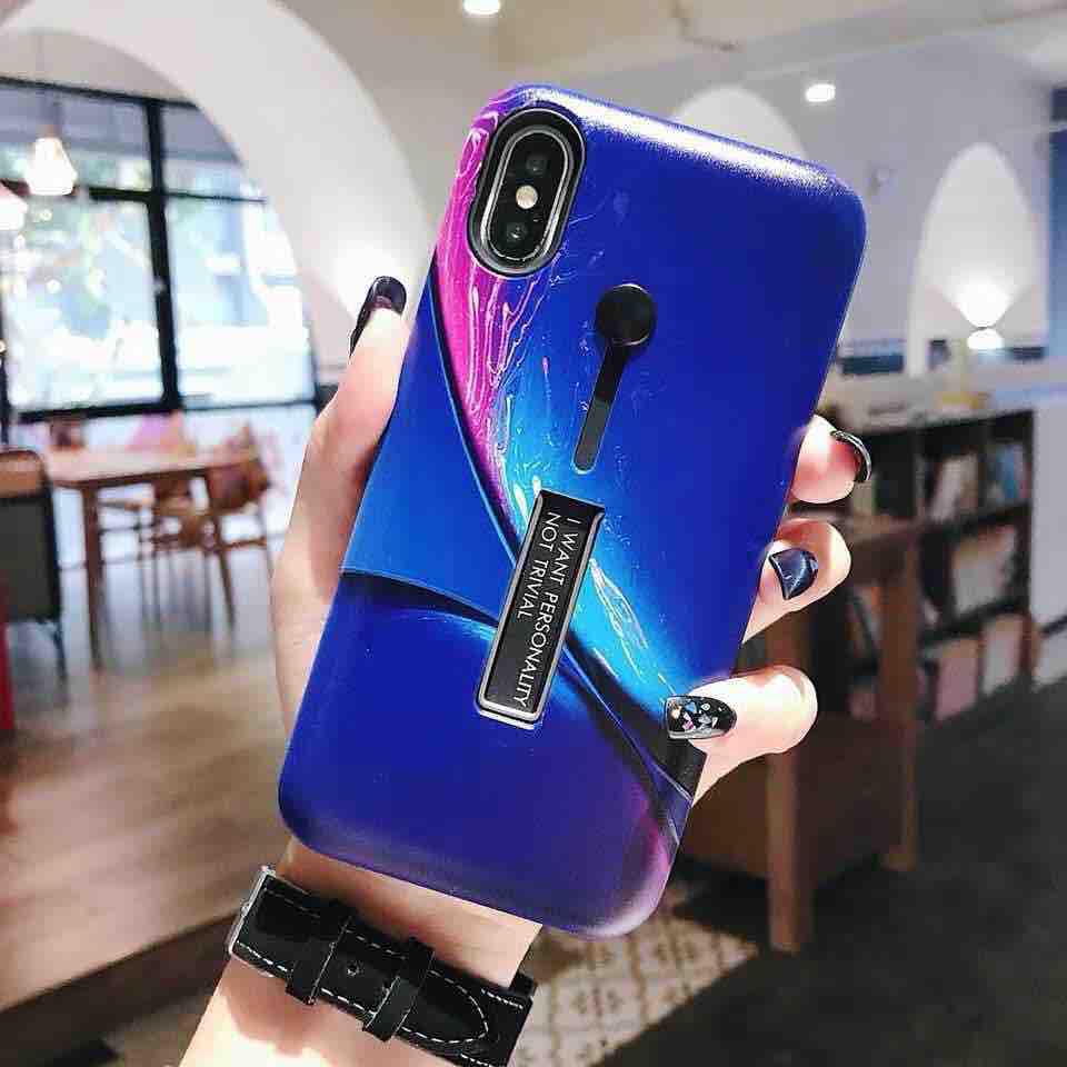 Huawei Y9 Prime 2019 Cartoon Style Armor Back Case With Ring At Stand  Fashion Cellphone Back Case Cover
