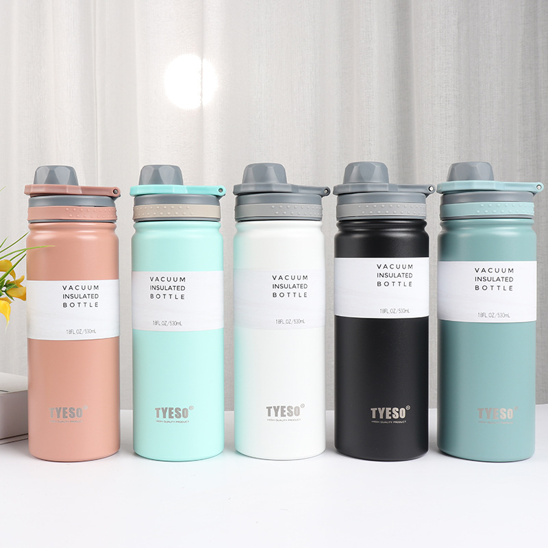Vacuum Insulated Bottle Tumbler Portable Stainless Steel Sport Water Bottle  530ML No Logo | Lazada PH