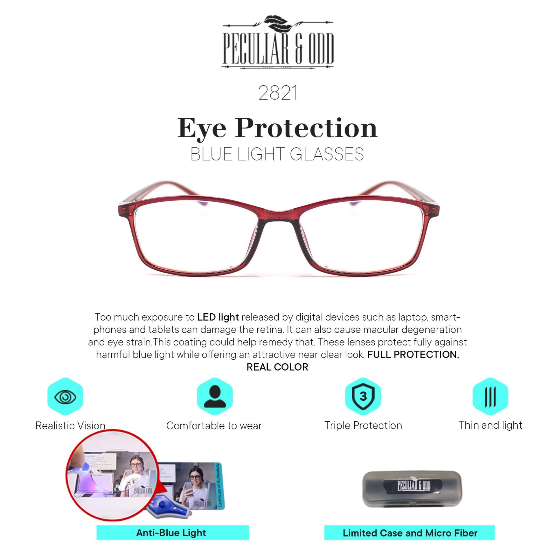 836a8a79f Peculiar Square 2821 Anti-Radiation Lenses Lightweight Replaceable for  Prescription Optical Lens Eyewear / Eyeglass