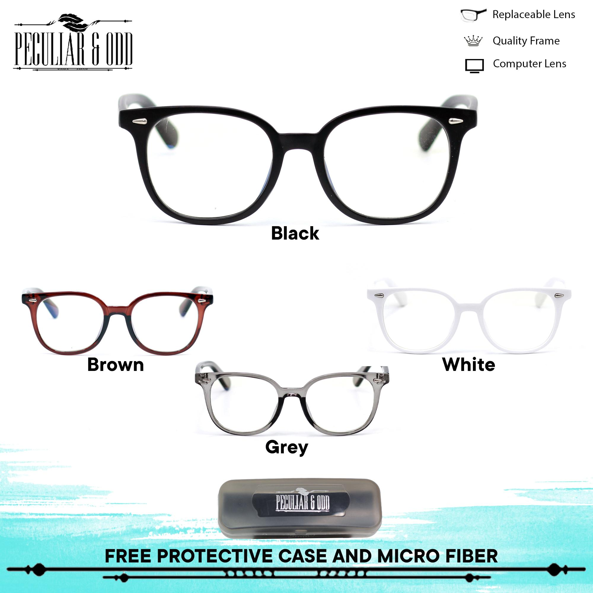 6e6a8b869edf Peculiar Round Eyeglasses 61422 Antiradiation Lenses Lightweight  Replaceable Optical Lens Unisex Eyewear