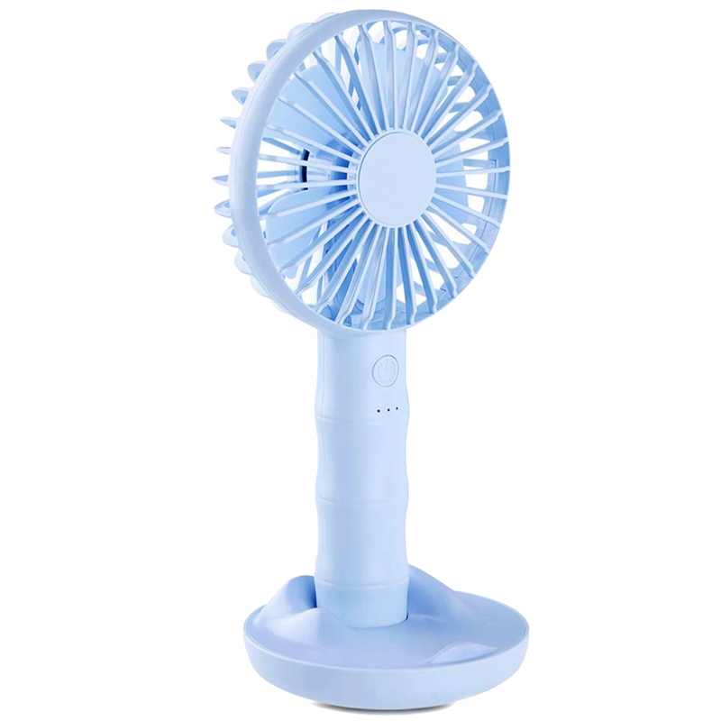 Handheld Fan,Small Portable Fan Usb Rechargeable Battery Operated Personal Fan With Base Powerful Airflow For Office Room Outdoor Traveling Camping