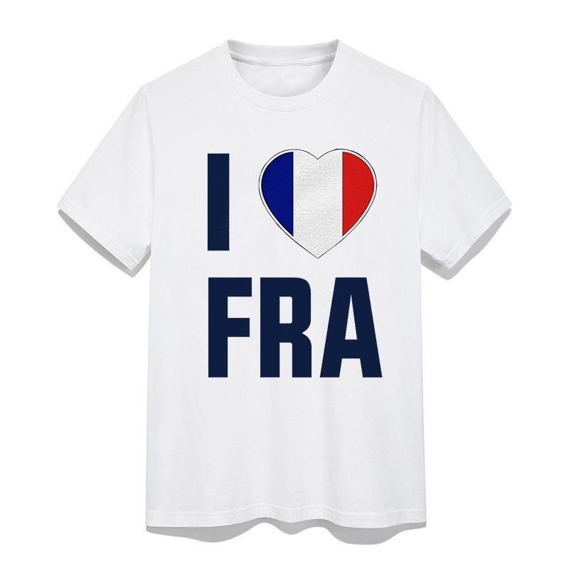 e7c6e3e7b I Love FRA French National Men s Football Team World Soccer Cup Tops  Personality Pattern