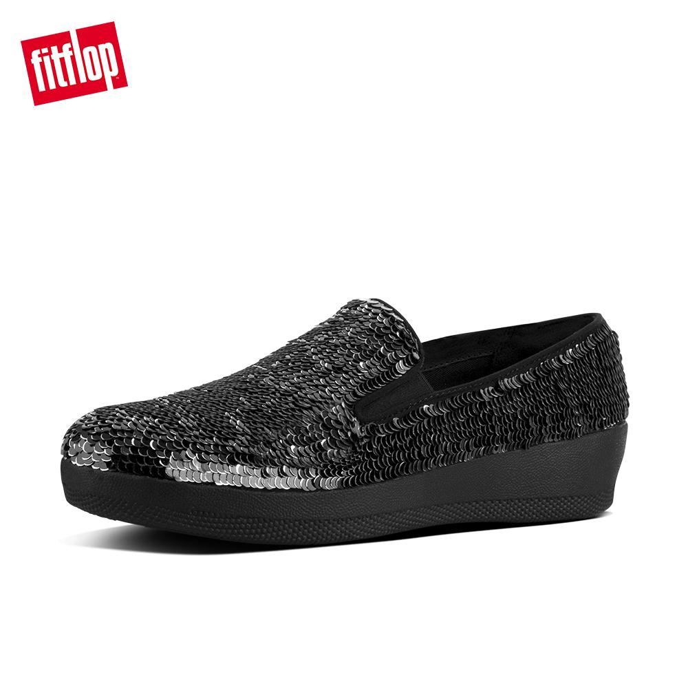 8ecbe0adde979f Fitflop Womens Shoes I05 Superskate With Sequins Street Casual Comfort  Fashion Sneakers