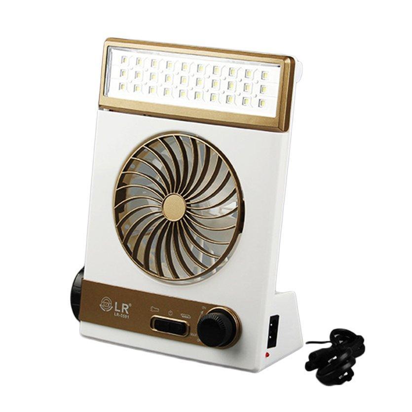 Obbb Multifungsi Tenaga Surya Kipas Lampu Portable Outdoor Indoor Lampu Meja