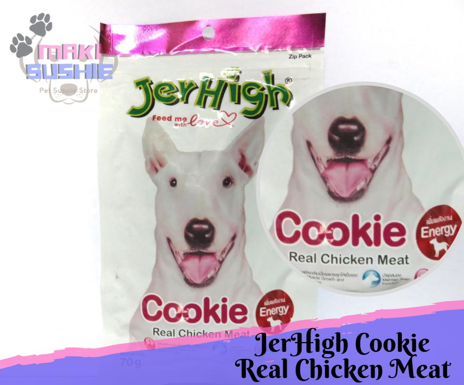 Jerhigh 70g Cookie, Real Chicken Meat By Makisushie Pet Supply.