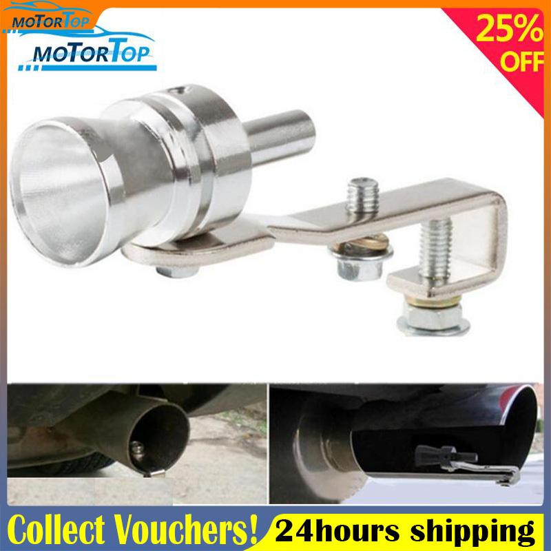 MP Exhaust pipe sounder 1pc turbine whistle high quality-Silvery