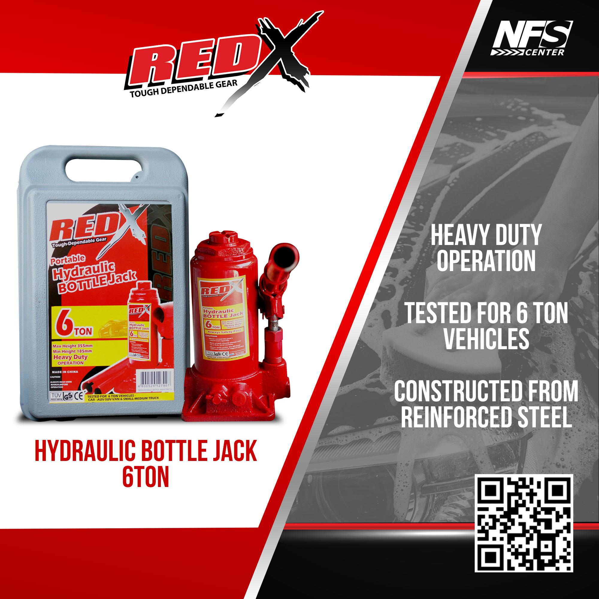 NFSC - Red X Hydraulic Bottle Jack 6Ton