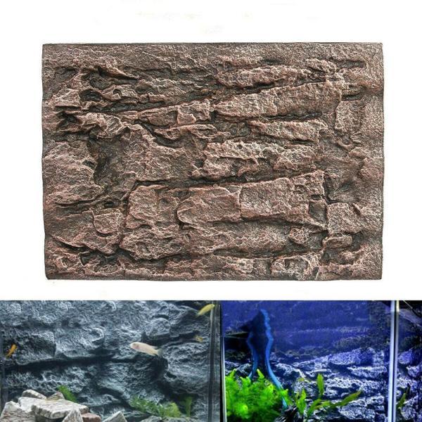 【Rjnfwlee】Aquarium Bọt Đá Đá Bể Cá Phông Nền Tường 3D ReptileTerrarium Chỗ Nuôi Thú