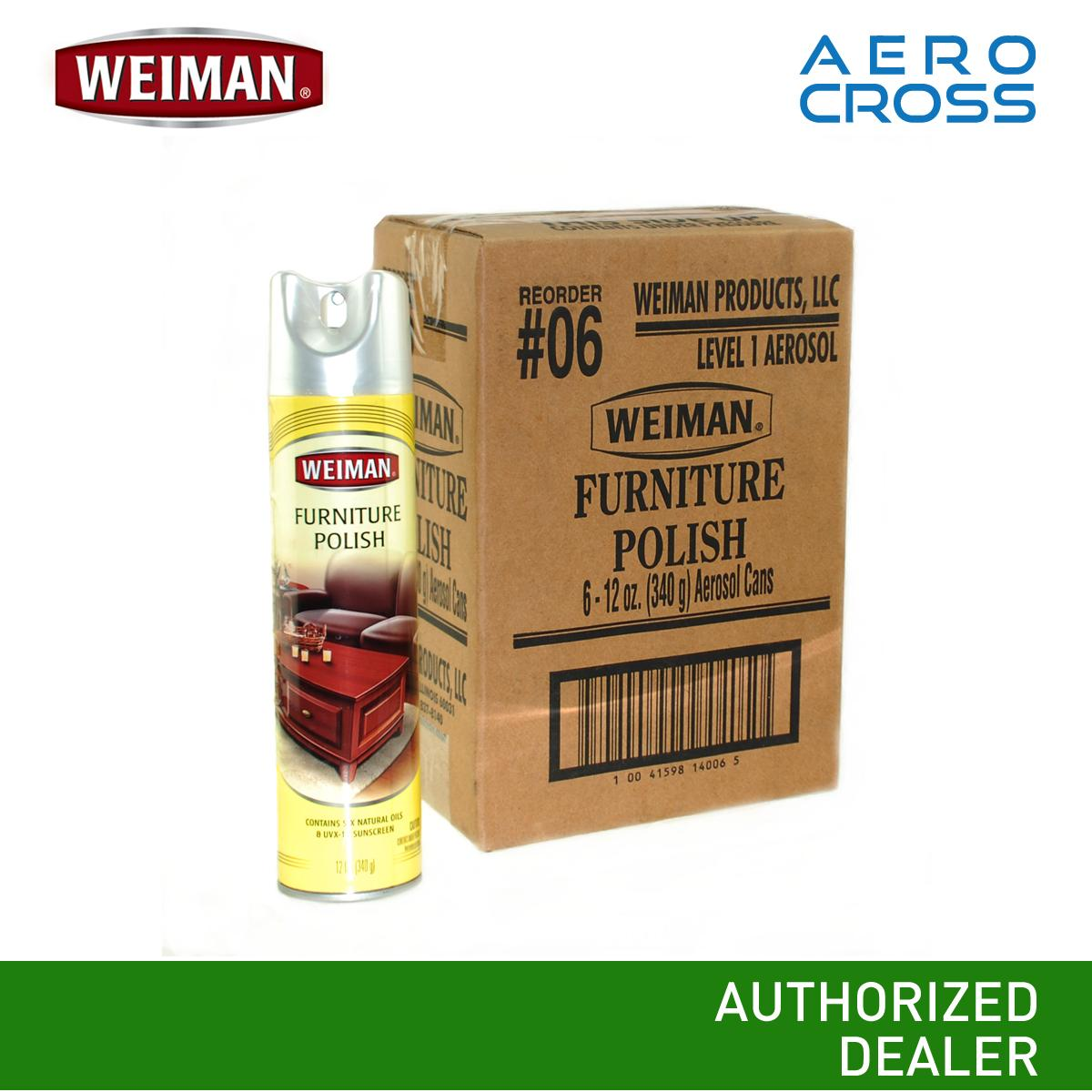 Ac Weiman Furniture Polish 1 Box (6 Pcs.) By Aerocross Phils..
