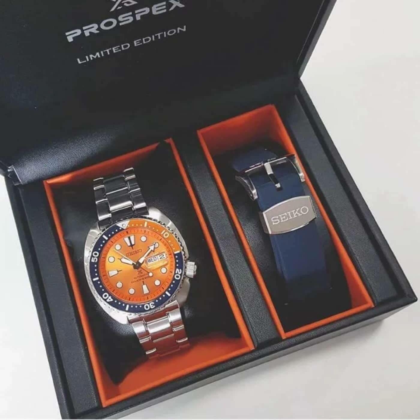 finest selection bb882 4dba7 Seiko Men Orange Turtle Limited Edition SRPC95K1 Watch