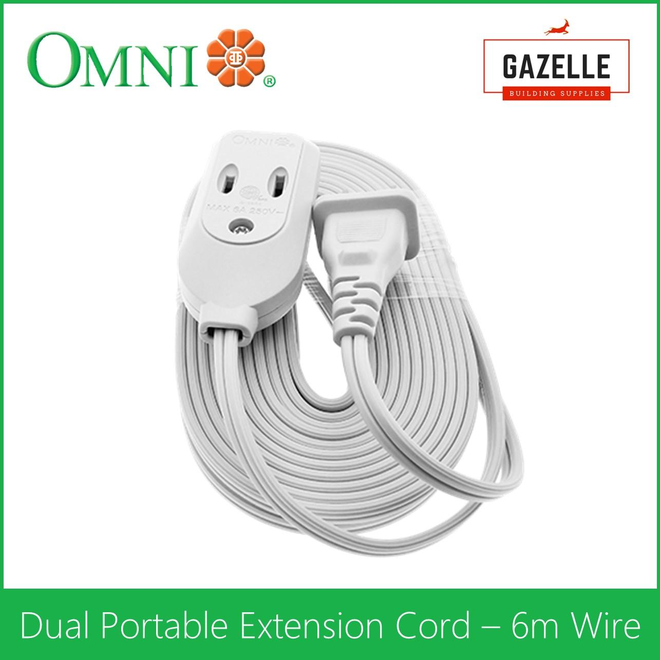 Extension Cord For Sale Electrical Cables Prices Brands Review Wiring Outdoor Sockets Uk Omni Dual Portable 6 Meter Wire Wdp 306