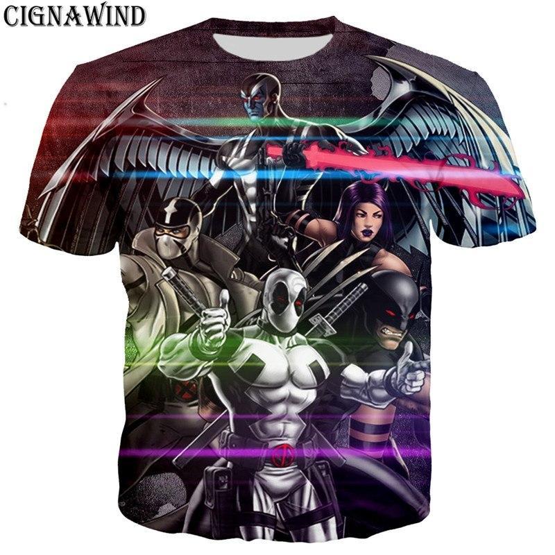 Mens Womens 3d T-shirt  Print Casual Deadpool  Short Sleeve Tops Tee  S-5XL