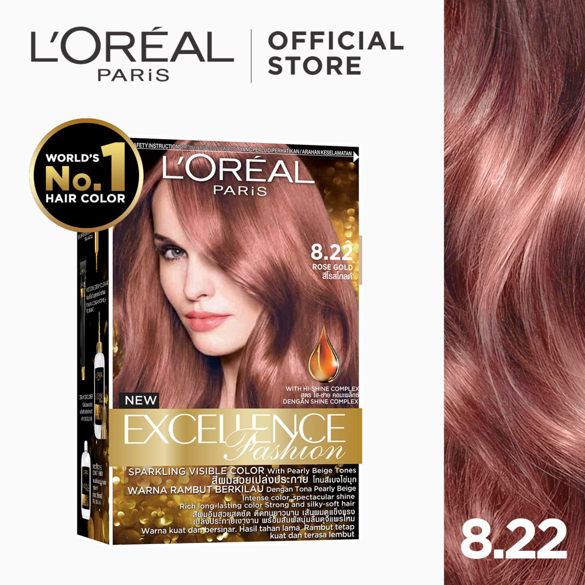 Excellence Fashion Parisian Gold [worlds No.1] By Loreal Paris [w/ Protective Serum & Conditioner] By Loreal.