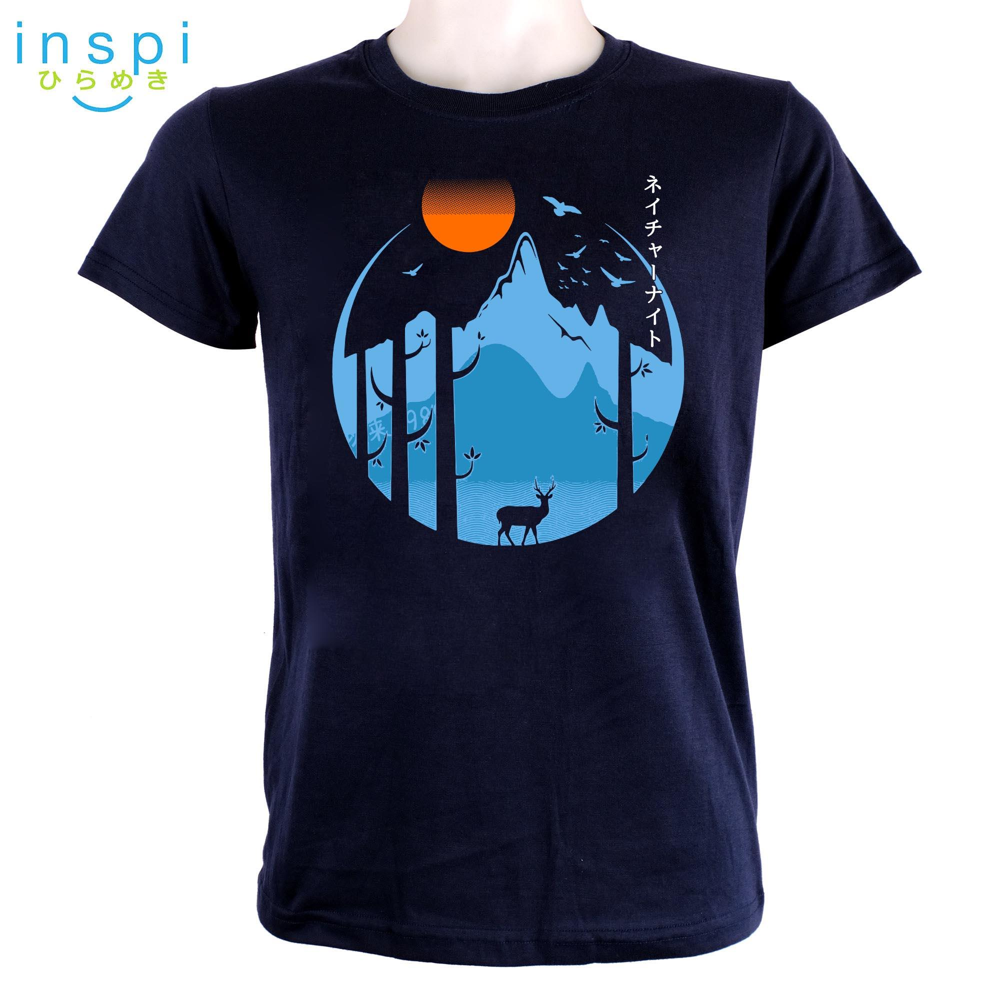 11318bbb2ba4 INSPI Tees Nature Evening (Navy Blue) tshirt printed graphic tee Mens t  shirt shirts