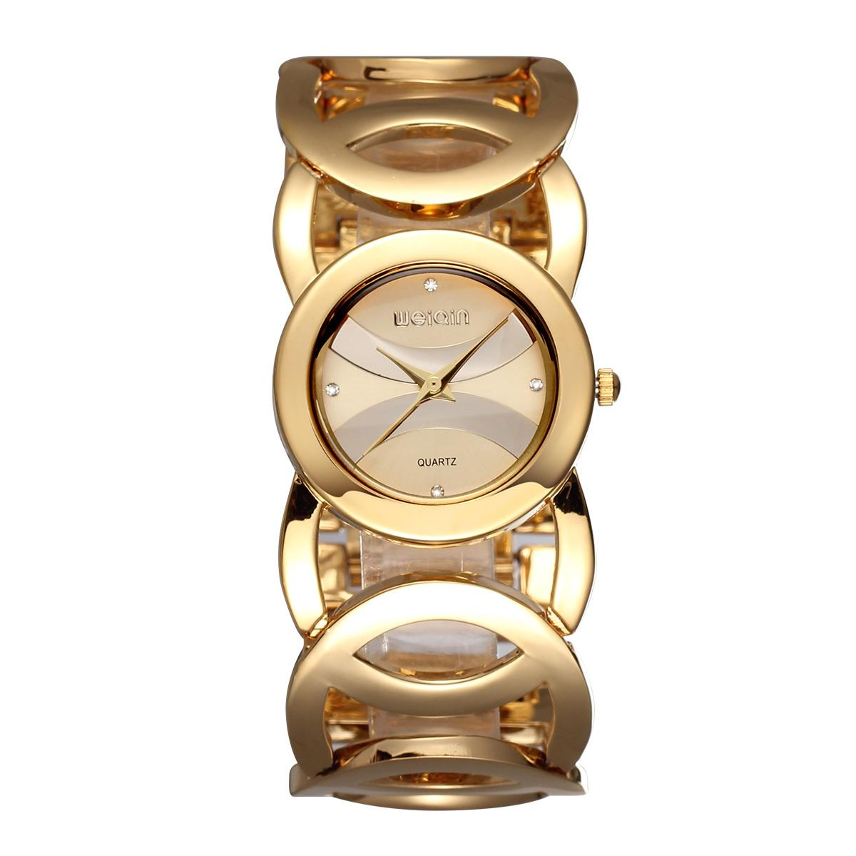 292f58b9057 Weiqin Women watch Full Stainless Steel Quartz Wristwatches ladies hour  248702(Gold) - intl