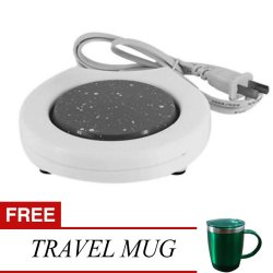 ElectronicCoffee Warmer with Free Travel Mug (Green)