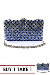 Elena 124 Fashion Party Sling Bag (Blue/Silver) BUY 1 TAKE 1