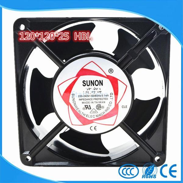 SUNON 12025 HSL Axial flow fan AC220V cooling fan blower 120*120*25mm SLEEVE bearing NEW