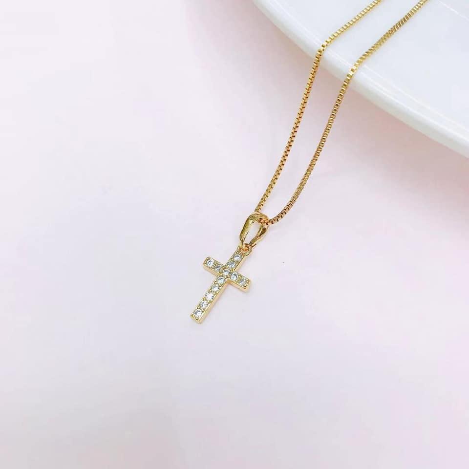 Size 11.5 Mens 14k Yellow and White Gold Two-Tone Crucifix Religious Catholic Ring
