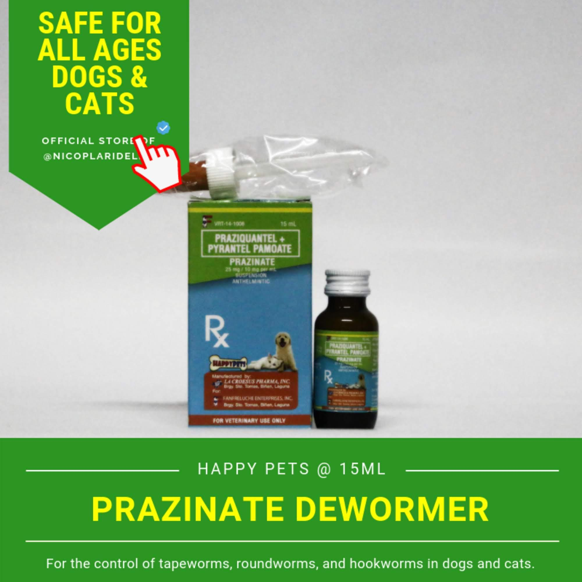 Free Shipping Happy Pets Prazinate Pyrantel Dewormer For Dogs And