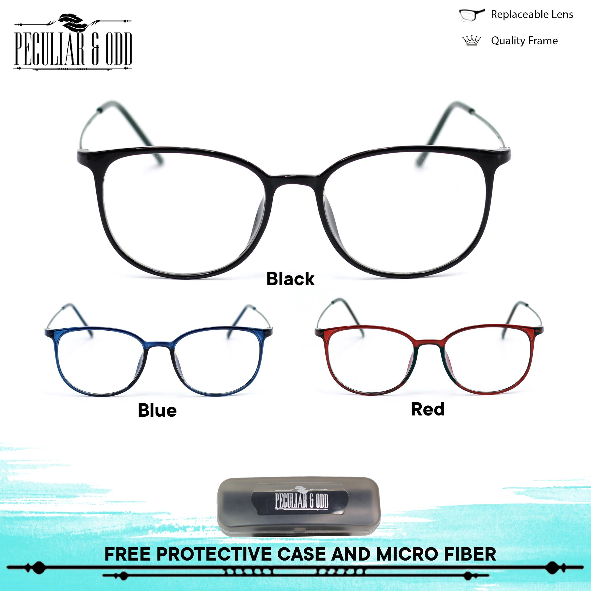 a6d352d0af Peculiar Round Eyeglasses 872 Lenses Lightweight Replaceable Optical Lens  Unisex Eyewear