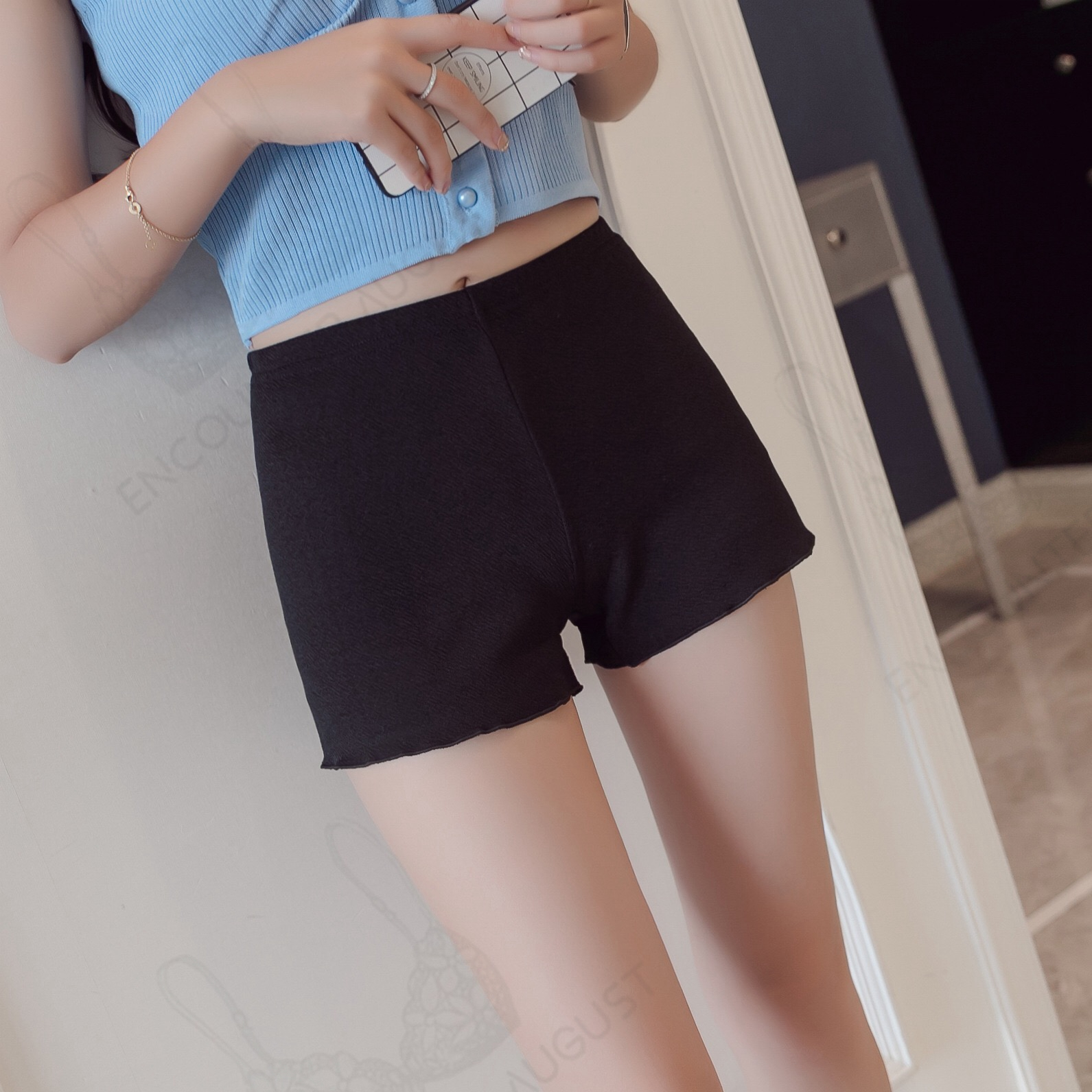 Women Safety Shorts Pants Leggings Seamless High Waist Slim Elastic Underwear