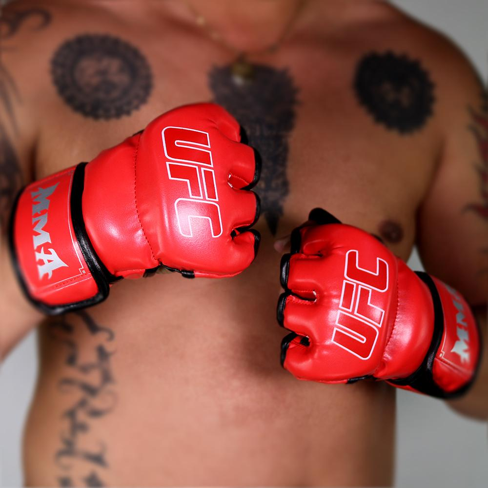 e33889f11 MMA UFC Muay Thai Training Punching Bag Gym Half Mitts Sparring Boxing  Gloves