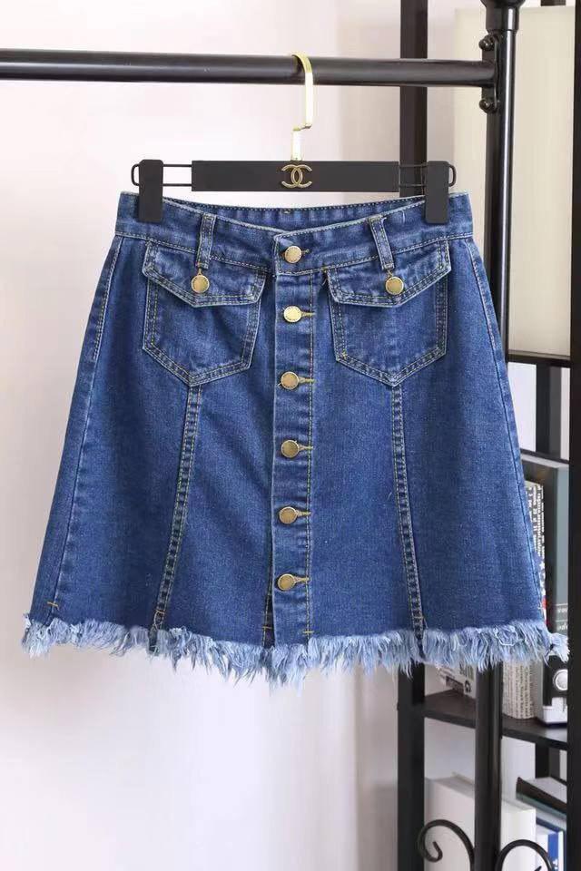 df0121a5c korea demin skirt 2 pockets in front 380#