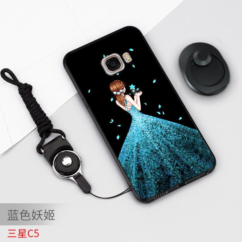 Samsung c5 Casing HP SM-C5000 Sarung HP Silikon anti jatuh Kartun sampul lunak c5 Casing Chasing luar wanita pasang