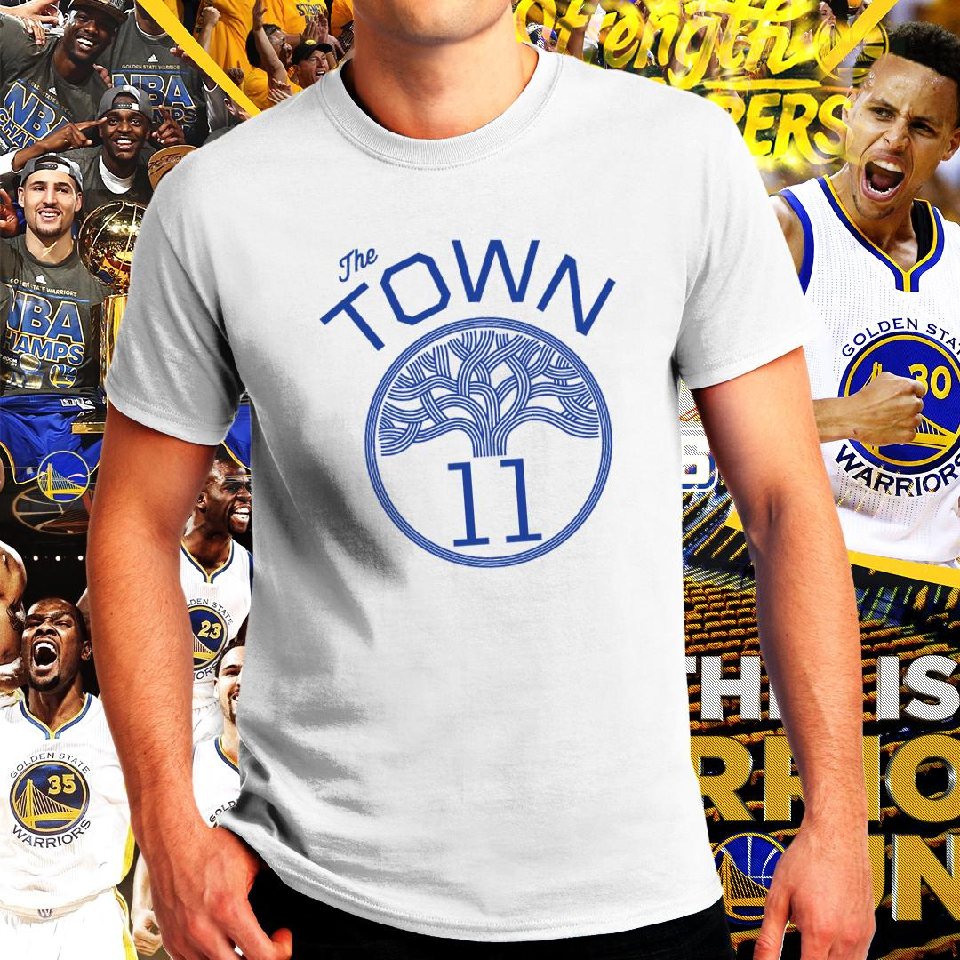 new style 975c9 8b8fc Golden State Warriors NBA Basketball Strength in Numbers Klay Thompson GSW  Tshirt for Men
