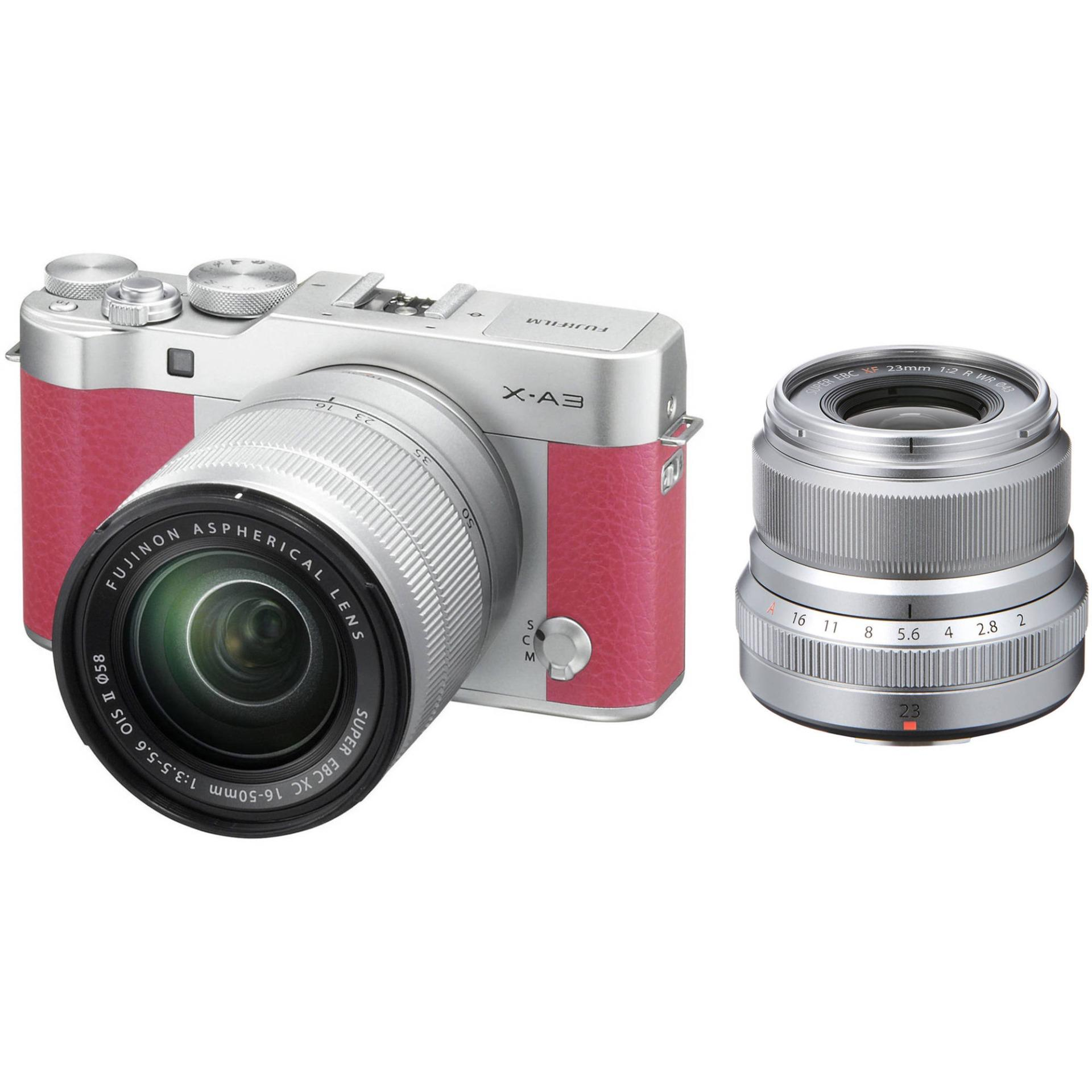 Fujifilm X-A3 24 2MP with 16-50mm Lens Kit (Pink)