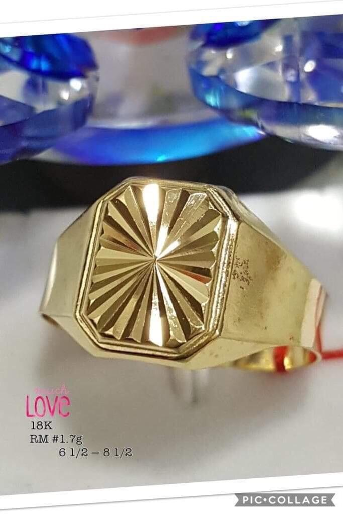 Pawnable Gold Mens Ring By Mk Watch Direct Supplier.