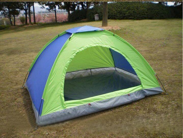 Outdoor Tent Double Build Tourist Camping Tent Beach Casual Single-Storey Tent Waterproof 2/4/8 Person (multicolor) By Golden Shine.