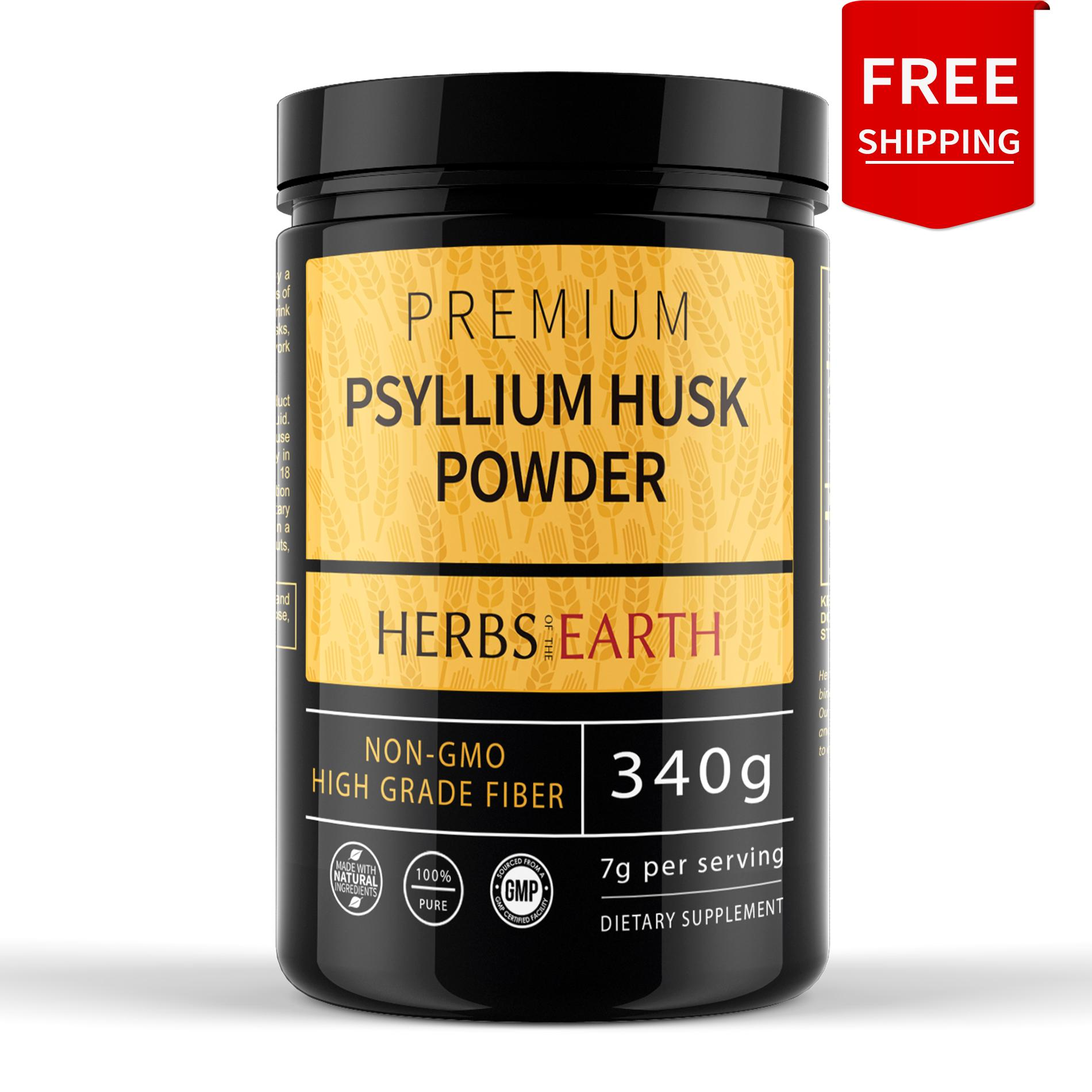 Psyllium Husk Powder, 340G Premium Fiber, NON-GMO, Perfect for Keto Bread,  Digestive Cleanse, Healthy Gut, Weight Loss Fibers, 7 Grams per serving,