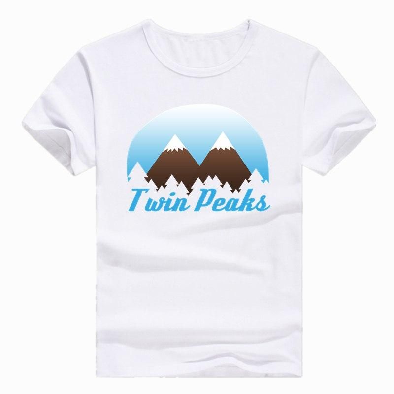91558f98 Lone Asian Size Print Twin Peaks Black lodge Flag Boy T-shirt Summer Casual  Short
