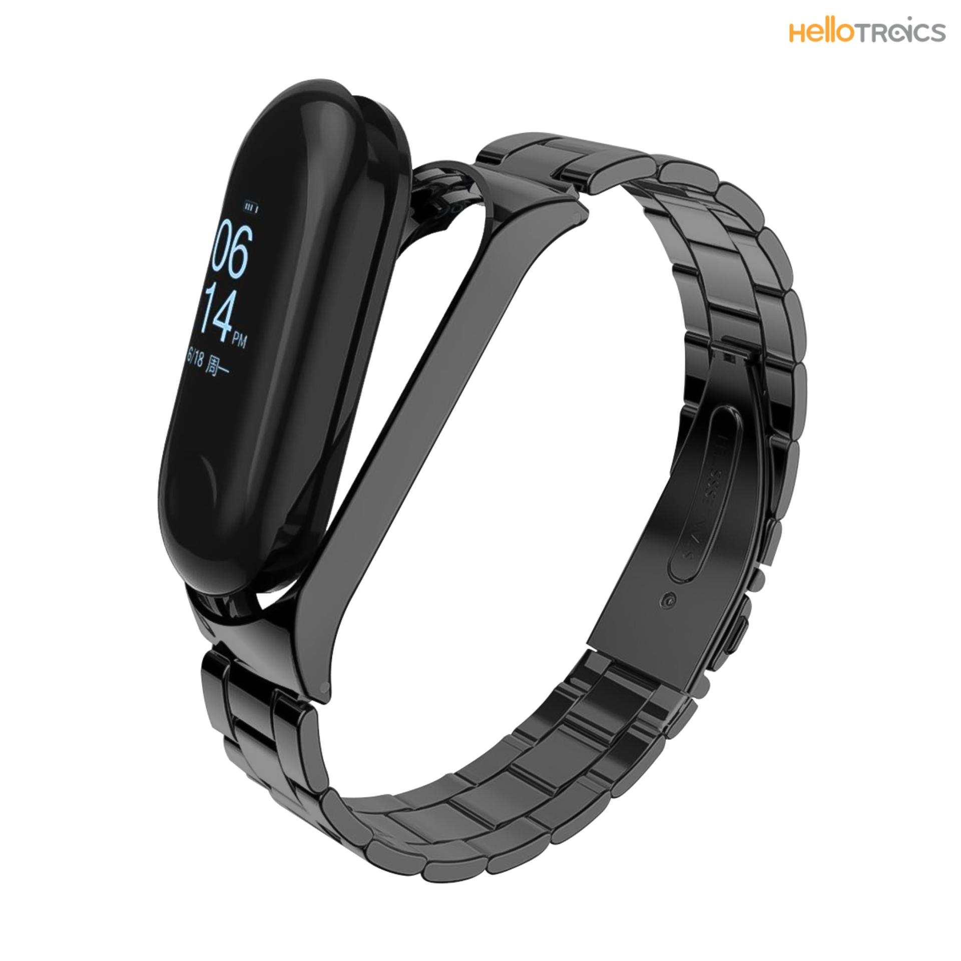 Xiaomi Mi Band 3 Replacement Stainless Steel Strap (black) By Hellotronics.