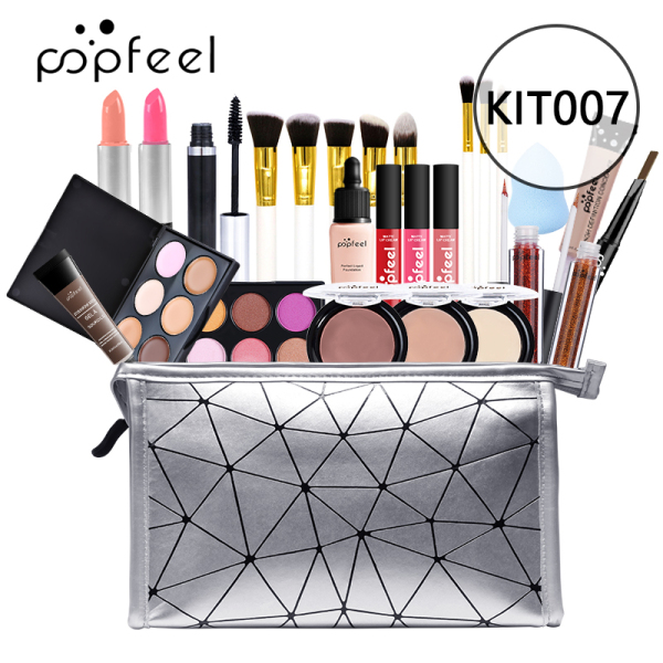 Buy Fuan KIT007 POPFEEL ALL IN ONE Makeup Kit Professional Cosmetics Full Set Eyeshadow Lip Makeup Brushes Eyebrow Concealer with Bag Singapore