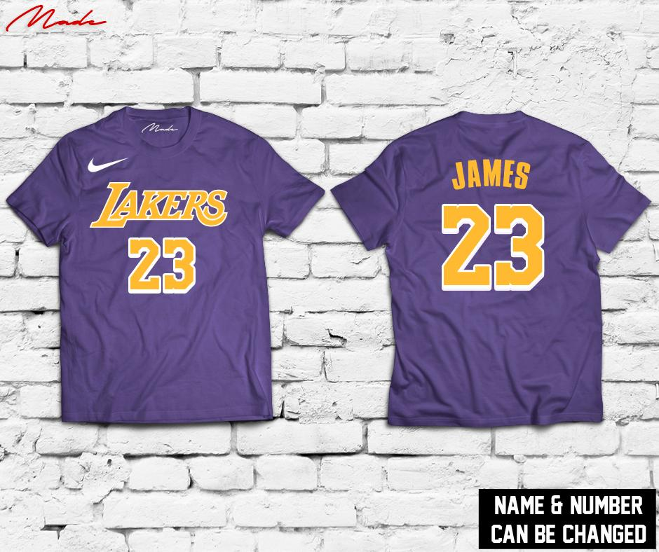 premium selection 94722 ae177 NBA - LA Lakers Lebron James Anthony Davis Kyle Kuzma Jersey Shirt