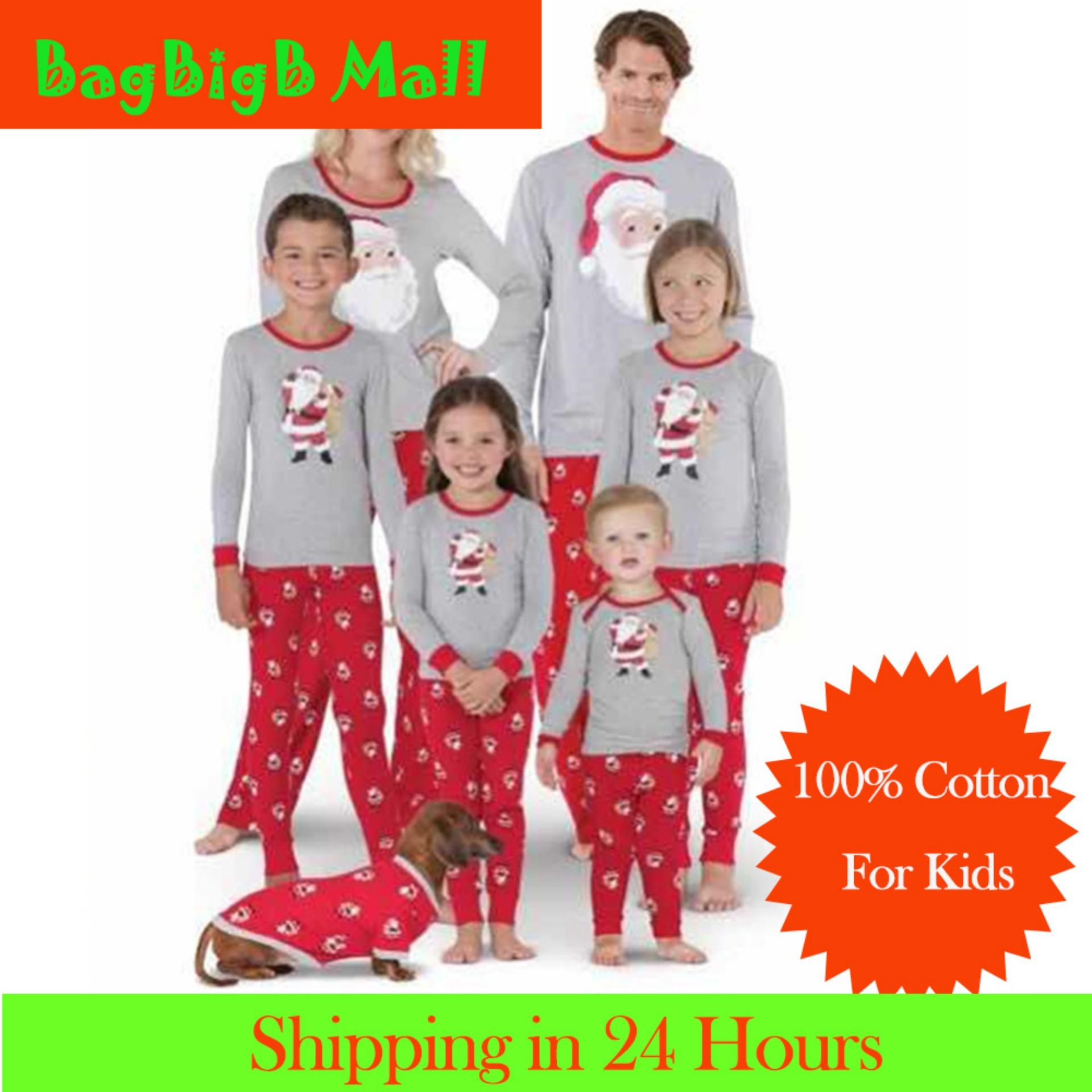 b71a93dc65  Time-limited Promotions Family Nightwear Clothes Christmas Lungewear Long  Sleeve Top and Pajamas