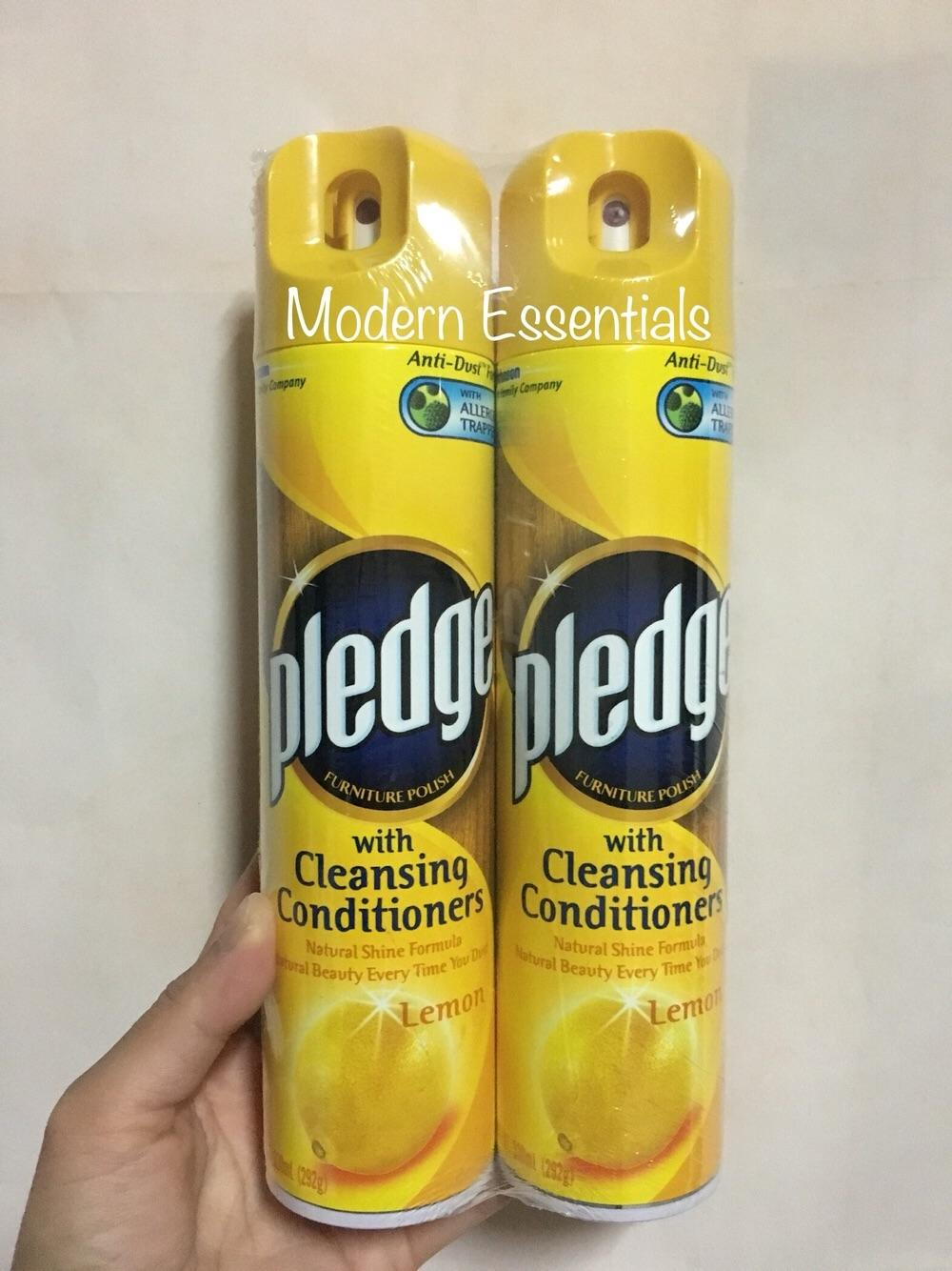 Pledge Furniture Polish Lemon Scent With Cleansing Conditioner 330ml X 2pcs By Modern Essentials.