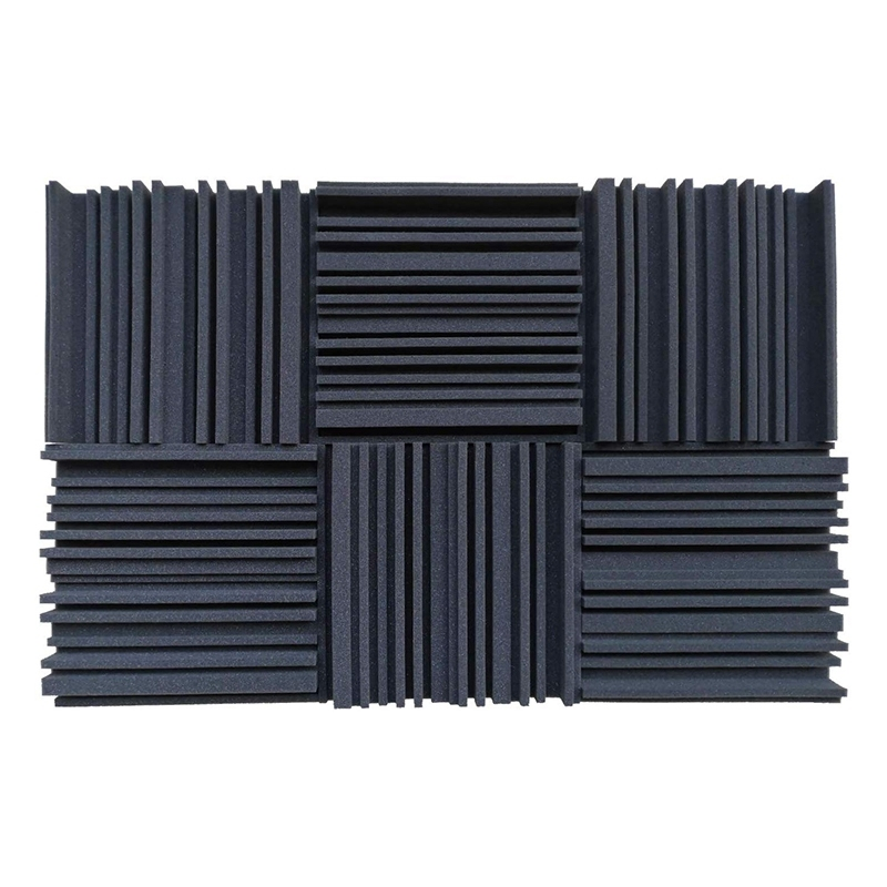 6 Pcs Acoustic Studio Absorption Foam Panel Broadband Sound Absorber Periodic Groove Structure Malaysia